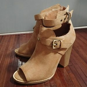 G BY GUESS Peep Toe Booties